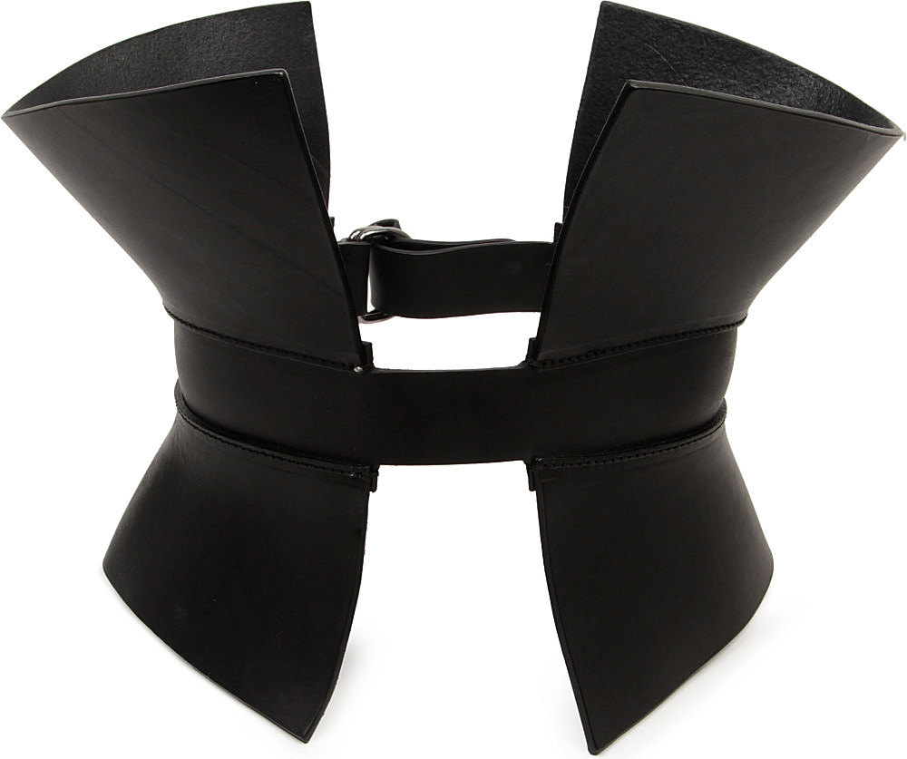 7b29c87726 Gareth Pugh Leather Corset Belt in Black - Lyst