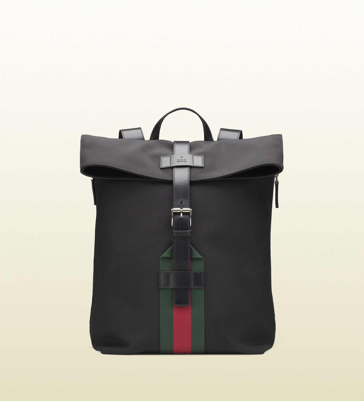 06dc126f8fd ... Gucci Black Techno Canvas Backpack in Black for Men