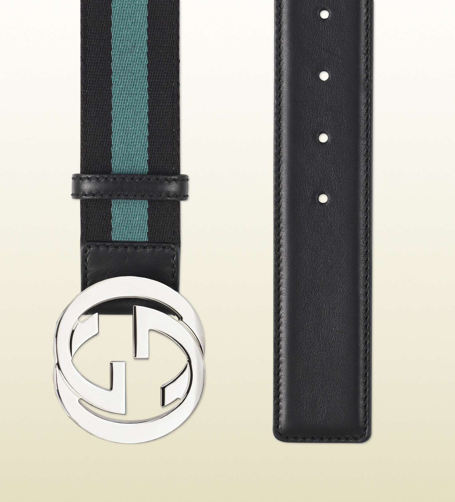 2aede71825a Lyst - Gucci Nylon Web Belt with Interlocking G Buckle in Blue for Men