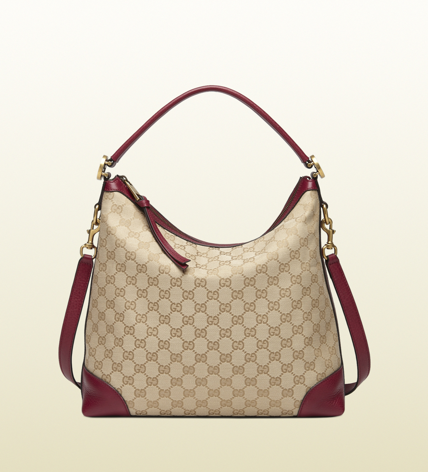 Gucci Miss Gg Original Gg Canvas Hobo in Purple | Lyst