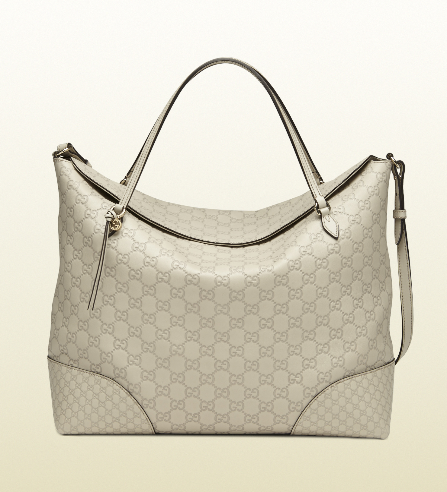 fecb16ee8d3 Lyst - Gucci Bree Ssima Leather Tote in Gray