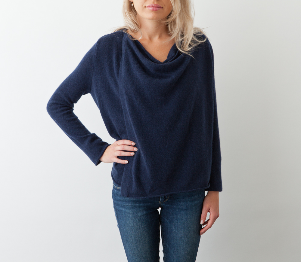 Jack rogers Cashmere Wrap Sweater in Blue | Lyst