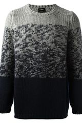 Jil Sander Gradient Knit Sweater - Lyst