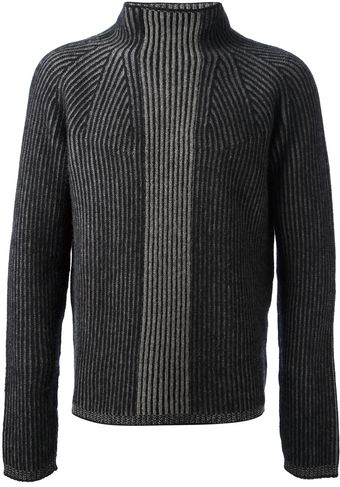 Jil Sander Ribbed Roll Neck Sweater - Lyst