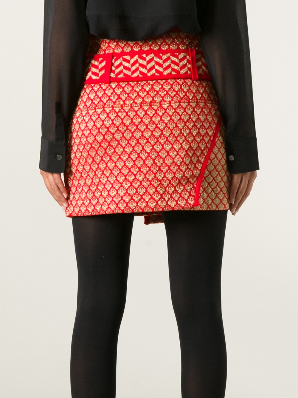 Lyst Kenzo Wrap Skirt In Red