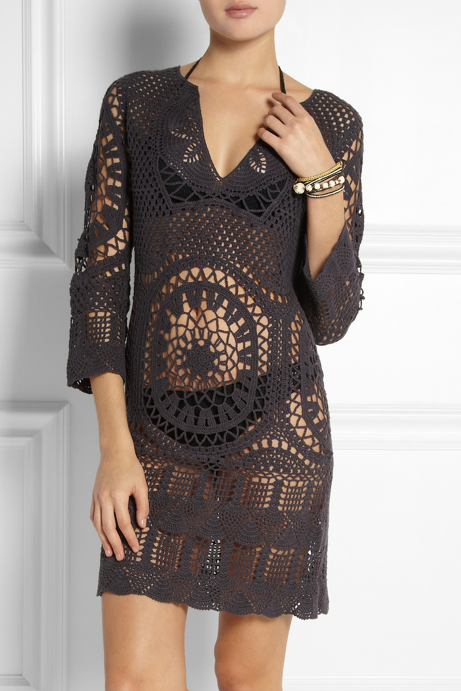 Lisa maree Intertwined Lives Crocheted Cotton Coverup in ...