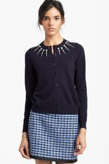 Marc Jacobs Jewel Embroidered Cardigan - Lyst