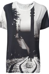 Mary Katrantzou Cross Fire Print T-Shirt - Lyst