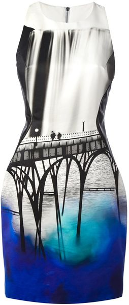 Mary Katrantzou Insert San Fran Dress - Lyst