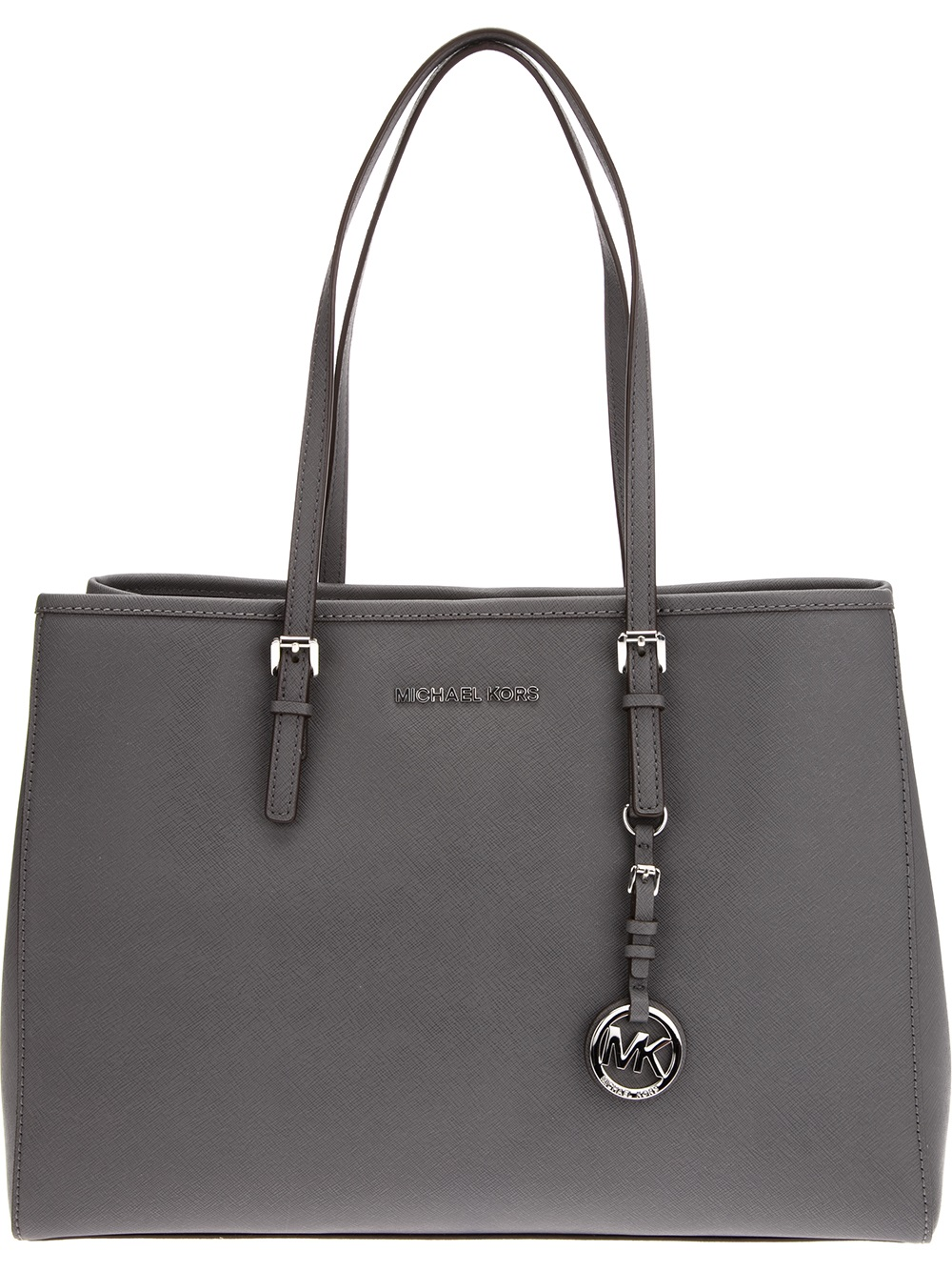 Lyst Michael Michael Kors Jet Set Travel Tote In Gray