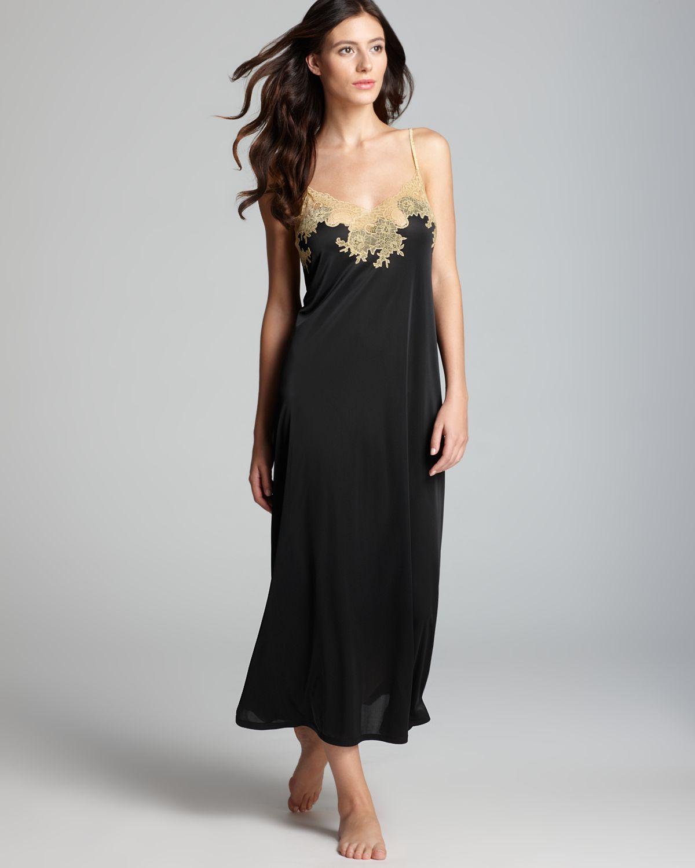 Lyst - Natori Enchant Nightgown in Black 4dd56ef1f