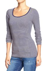 Old Navy Long Sleeved Scoop Neck Tees - Lyst