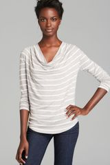 Red Haute Top Stripe Cowl - Lyst