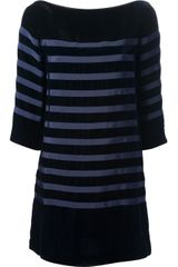 Sacai Striped Dress - Lyst