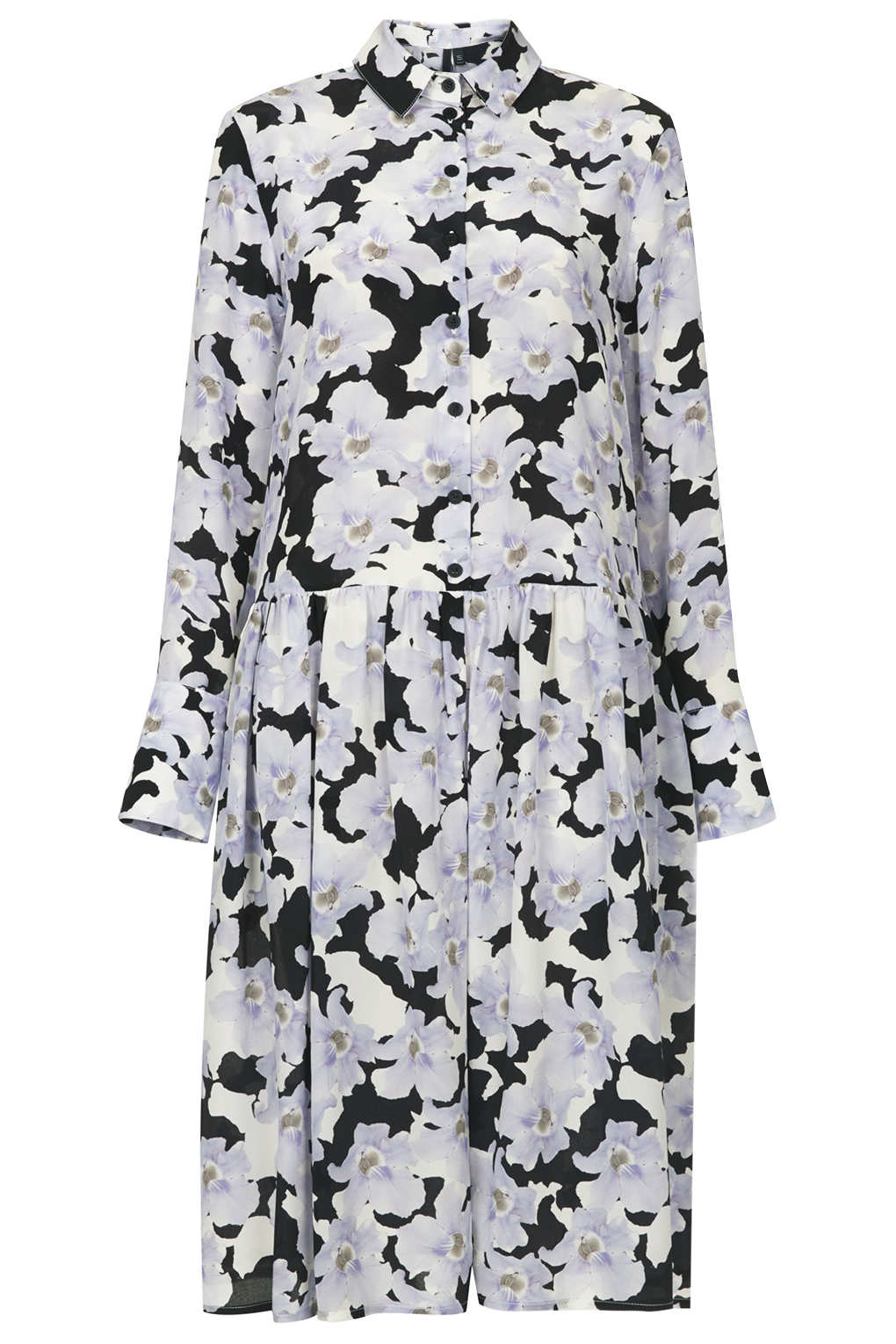 Topshop blue floral shirt dress by boutique in blue lyst gallery mightylinksfo