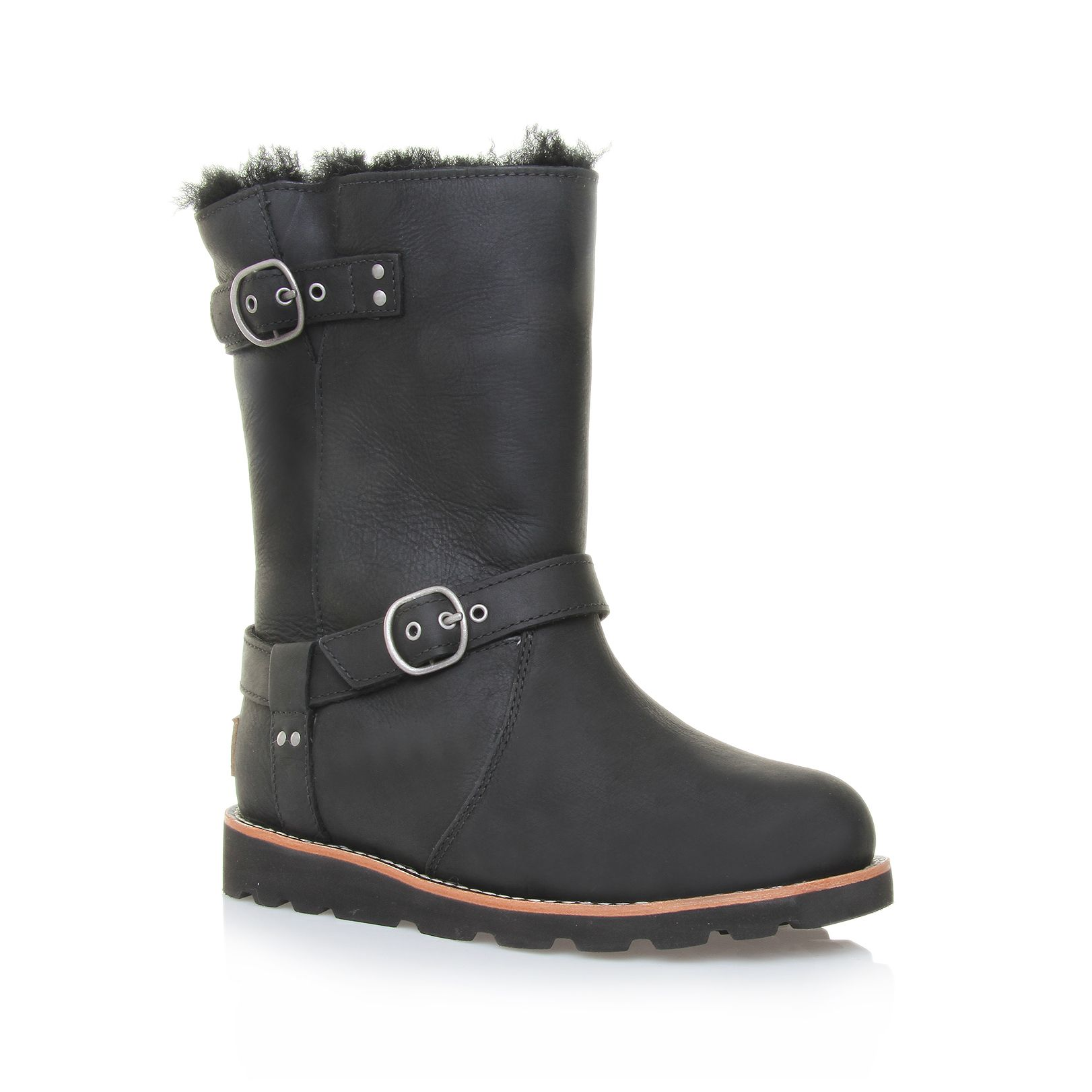 Ugg Noira Engineer Boots In Black | Lyst