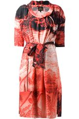 Vivienne Westwood Anglomania Printed Dress - Lyst