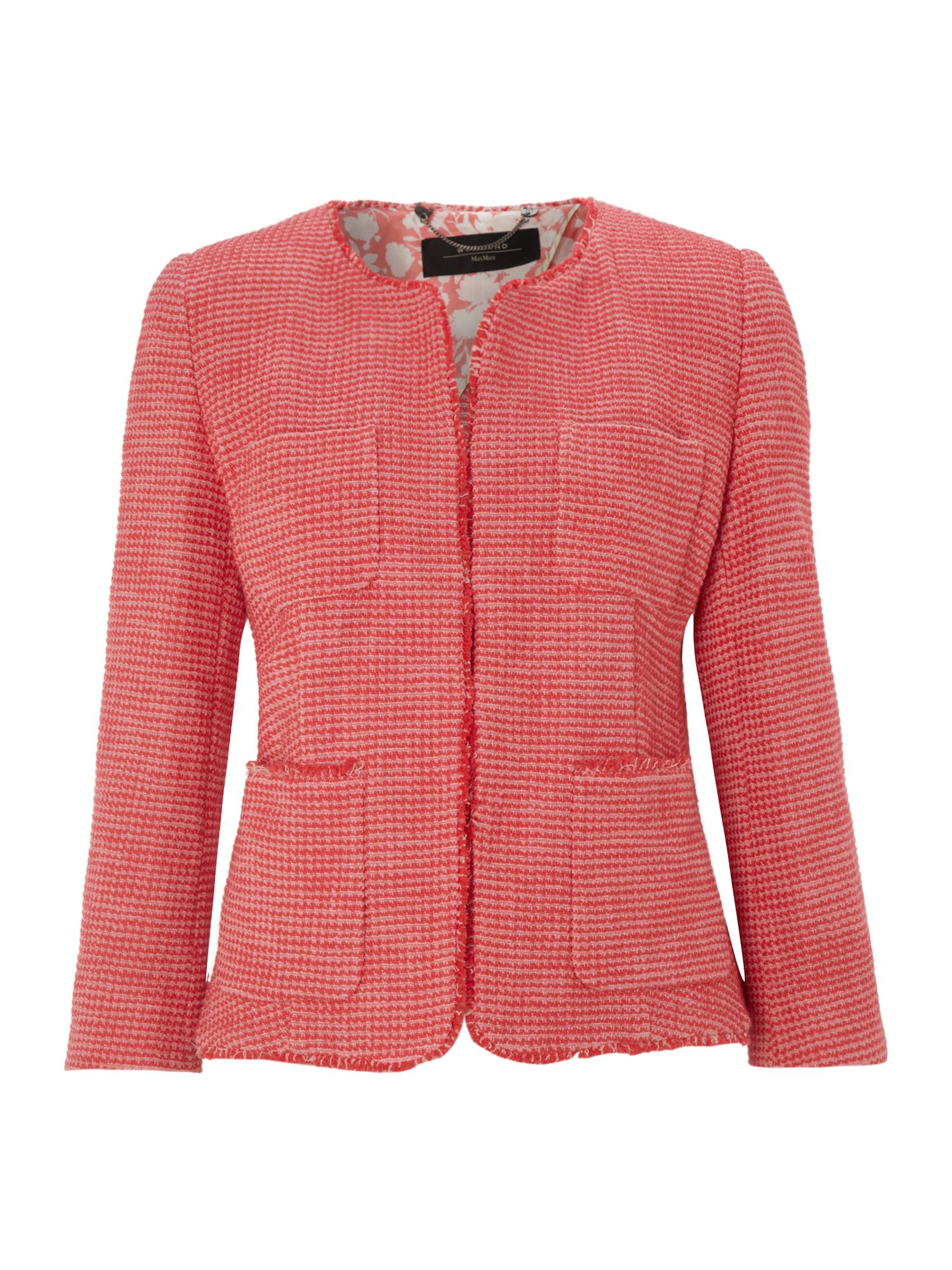 Weekend by maxmara Mattino Frayed Boucle Jacket in Pink | Lyst