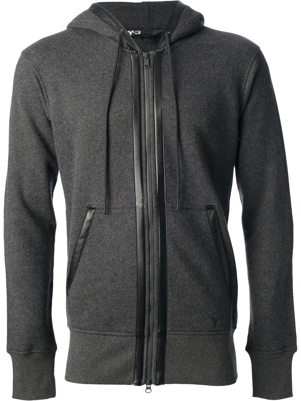 Lyst Y 3 Zip Up Hoodie In Gray For Men
