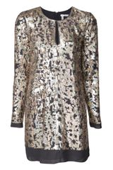 10 Crosby by Derek Lam Short Sequin Dress - Lyst