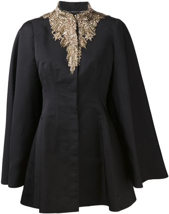 Alexander McQueen Embroidered Evening Cape - Lyst