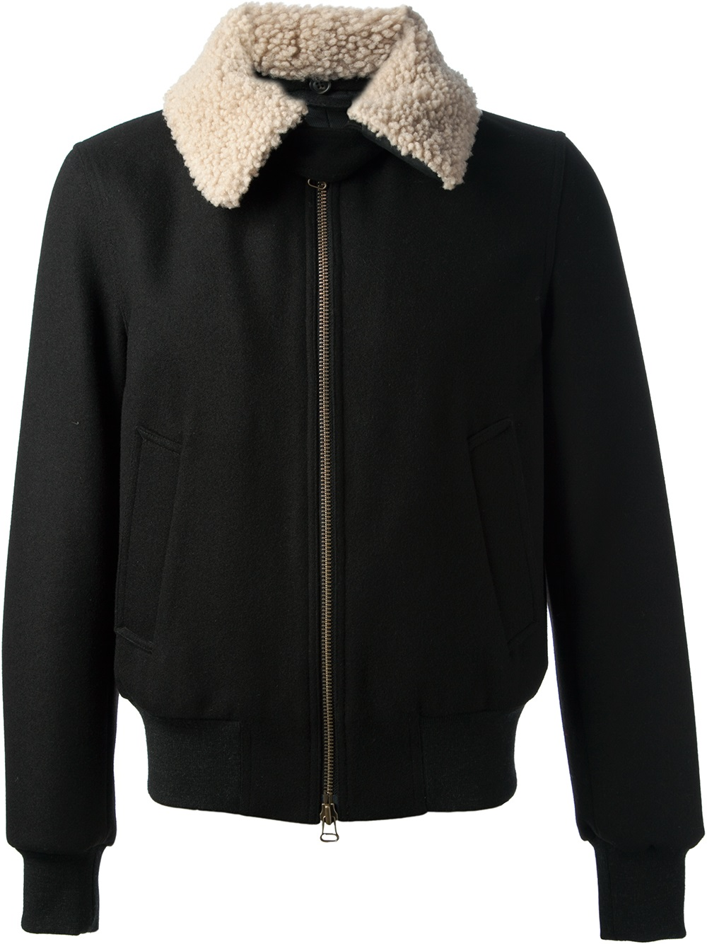 Ami Wool Collar Jacket in Black for Men