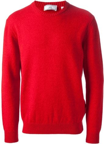 Ami Crew Neck Sweater - Lyst