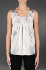 Armani Sleeveless Top - Lyst