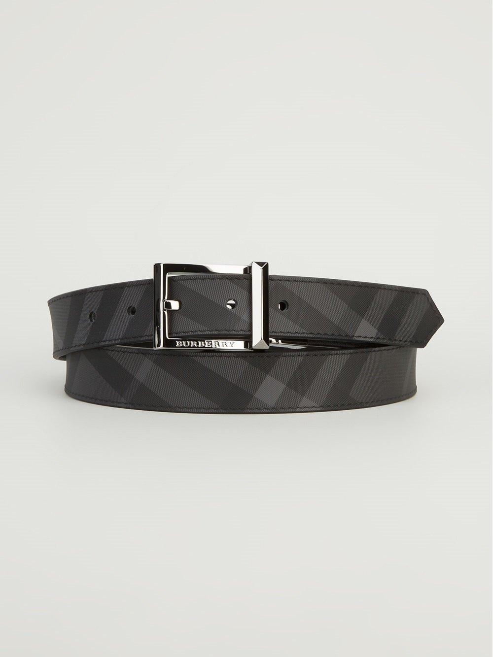 fa7750ecb10 Burberry House Check Print Belt in Black for Men - Lyst
