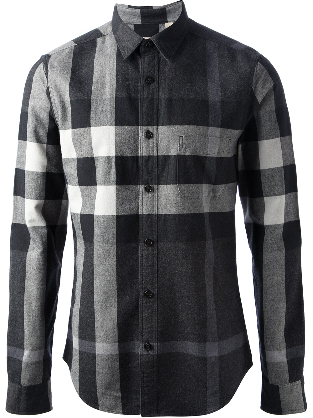 Burberry shirt men black images for Burberry brit checked shirt