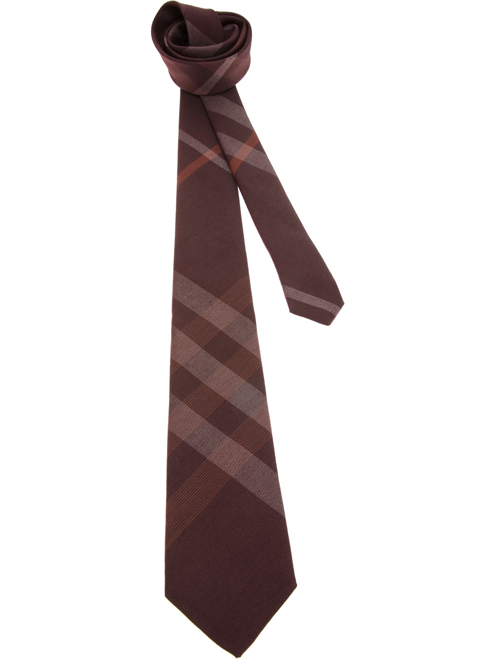 burberry check tie in for lyst