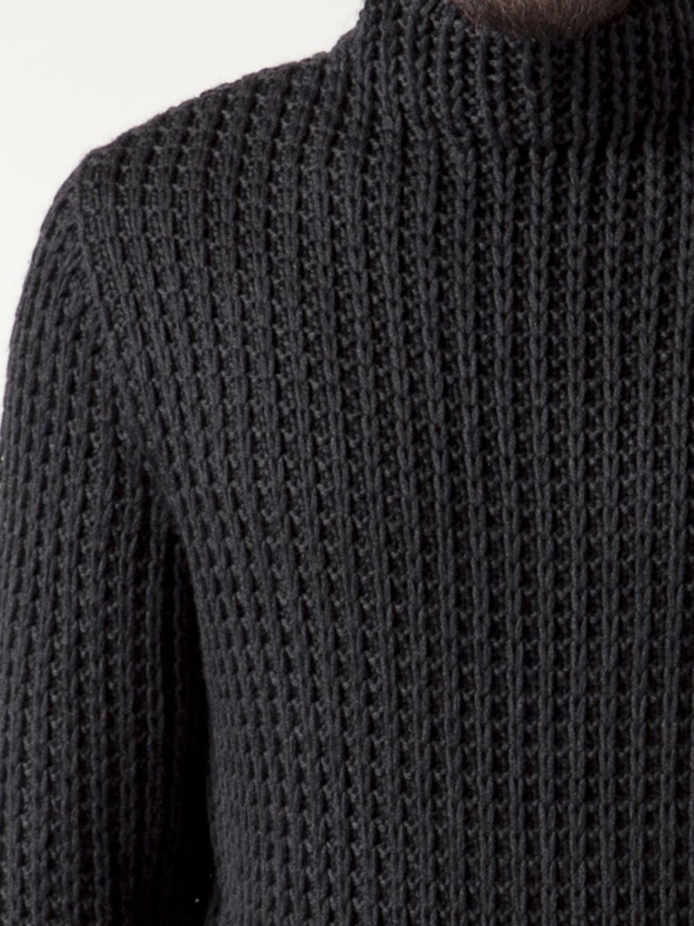 Calvin klein Chunky Turtleneck Sweater in Gray for Men | Lyst