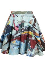 Chalayan Textured Printed Cotton Skirt - Lyst
