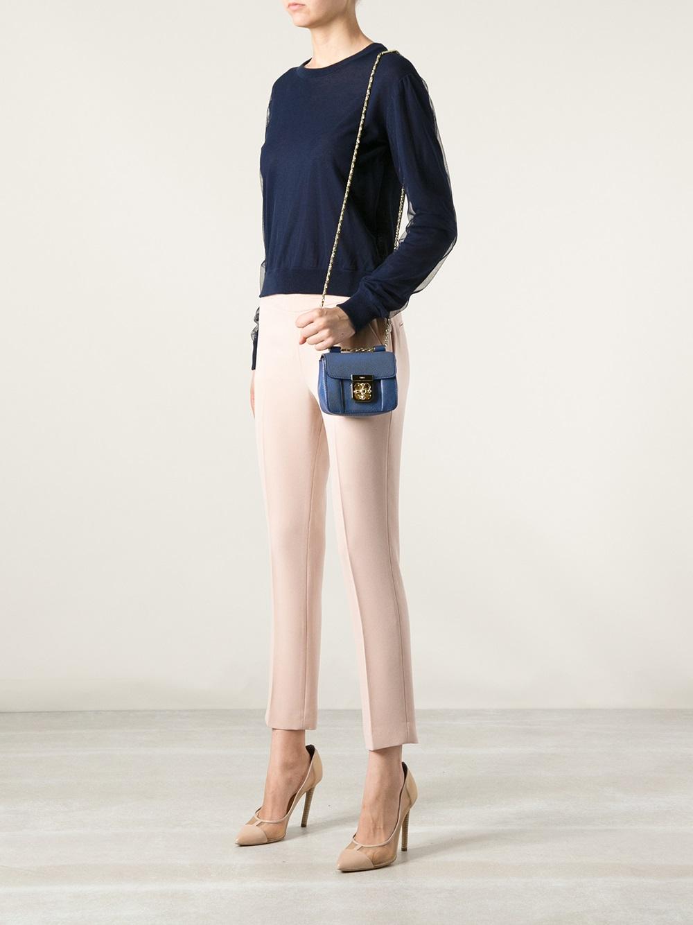 Chlo 233 Elsie Small Shoulder Bag In Blue Lyst
