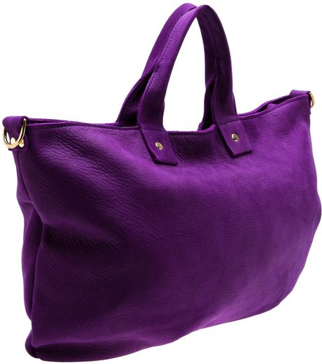 Clare Vivier Messenger Bag in Purple (pink  purple)