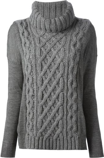 Coast + Weber + Ahaus Cable Knit Sweater - Lyst