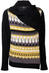 Cut 25 By Yigal Azrouel Chunky Knit Cardigan - Lyst