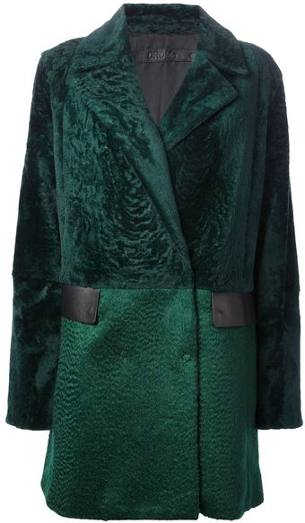 Drome Single Breasted Coat - Lyst