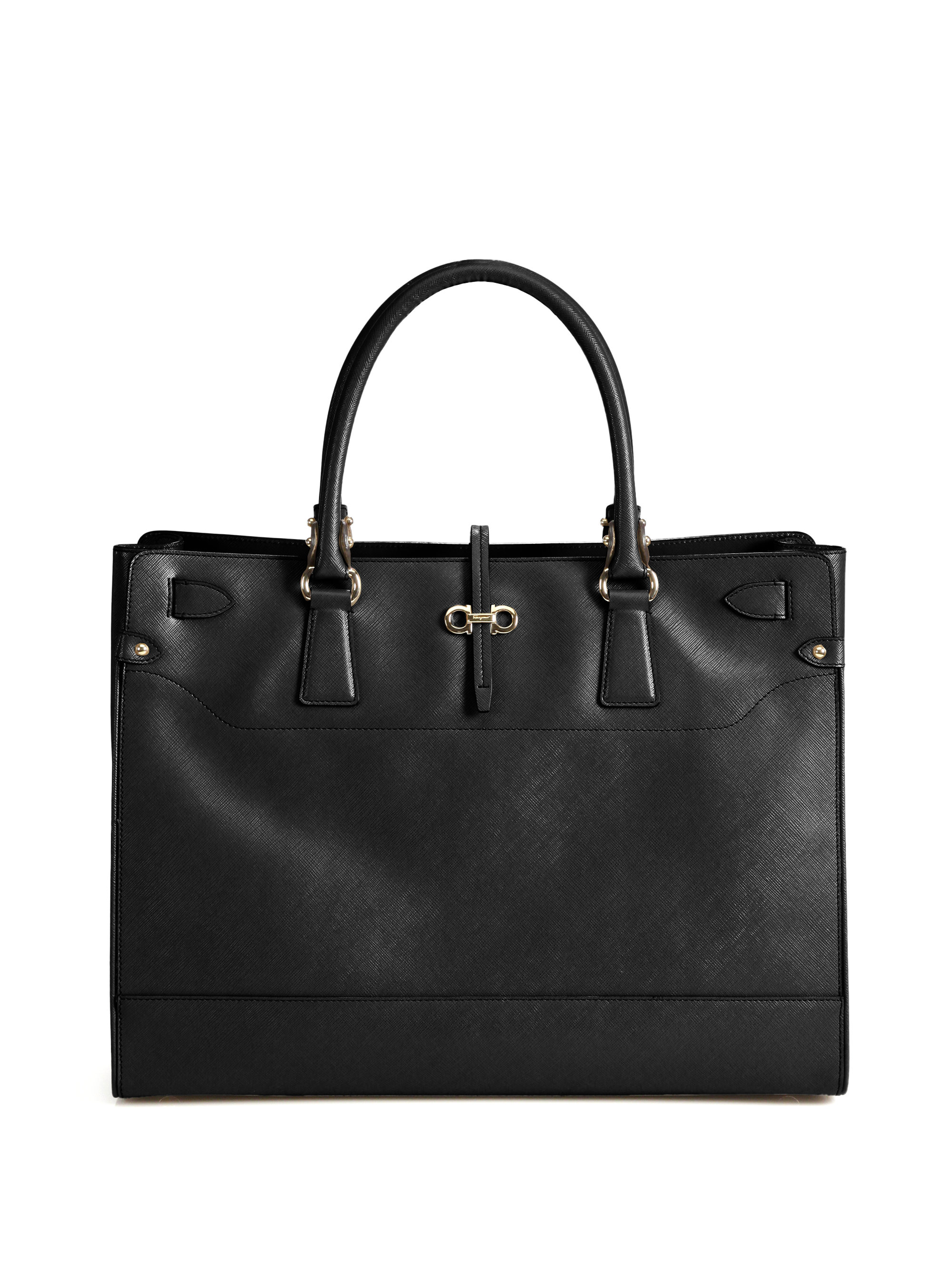 Ferragamo Briana Tote Bag in Black - Lyst
