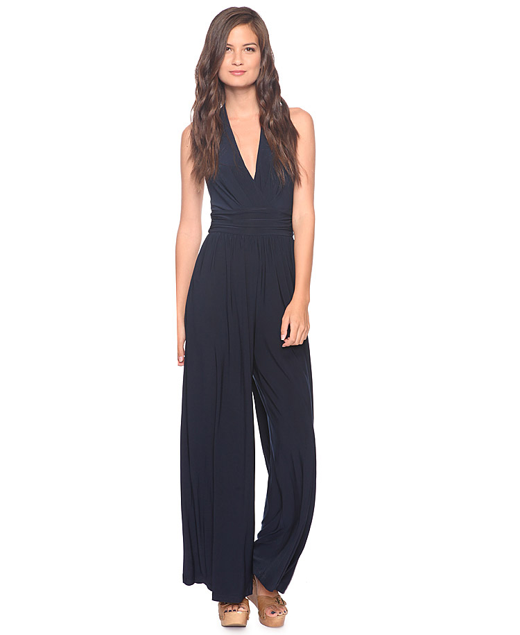 Jumpsuits To Wear To A Wedding: Forever 21 Halter Jumpsuit In Black (NAVY)