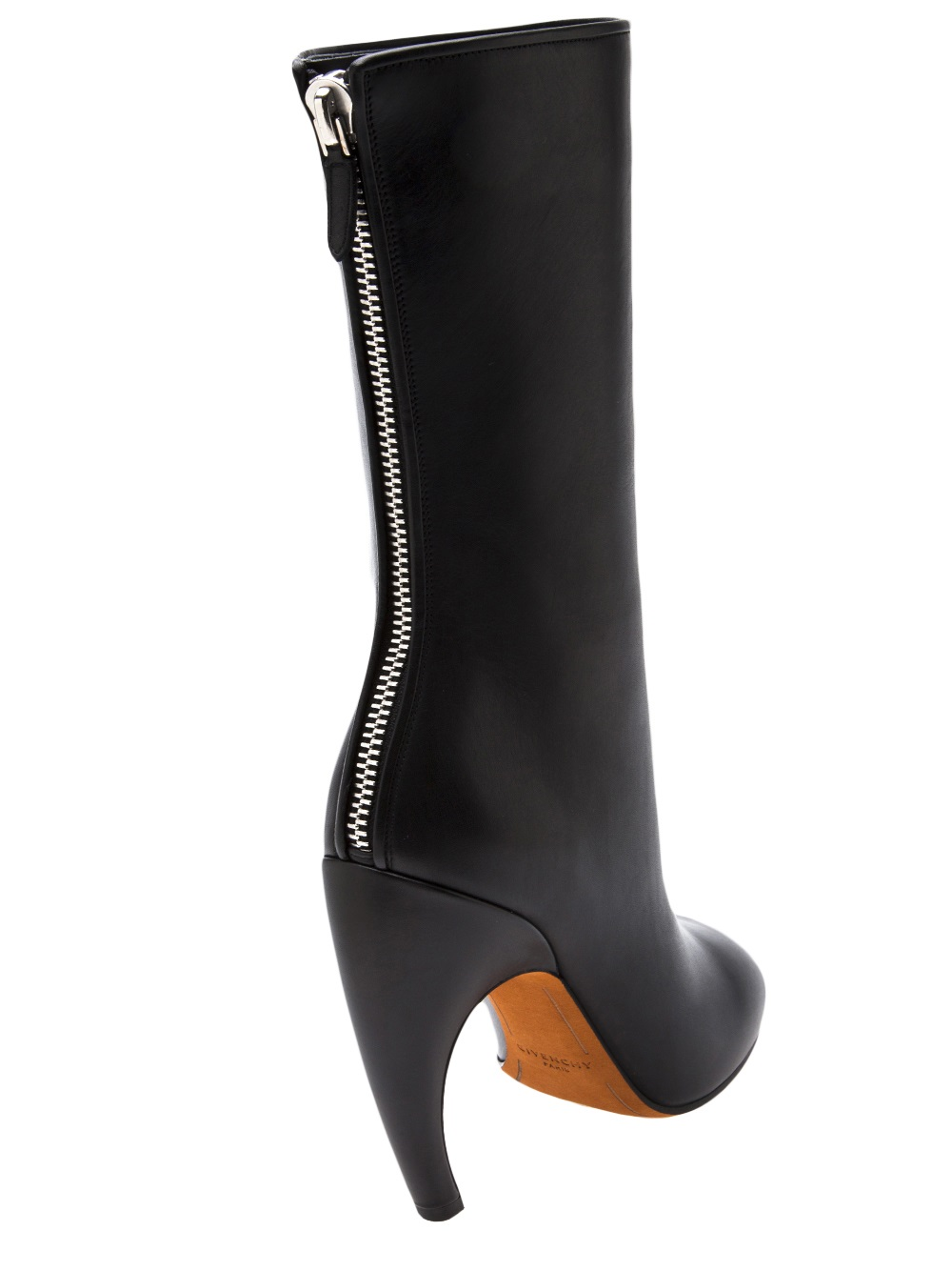 Lyst - Givenchy Curved Heel Boot in Black cb0d29cbe