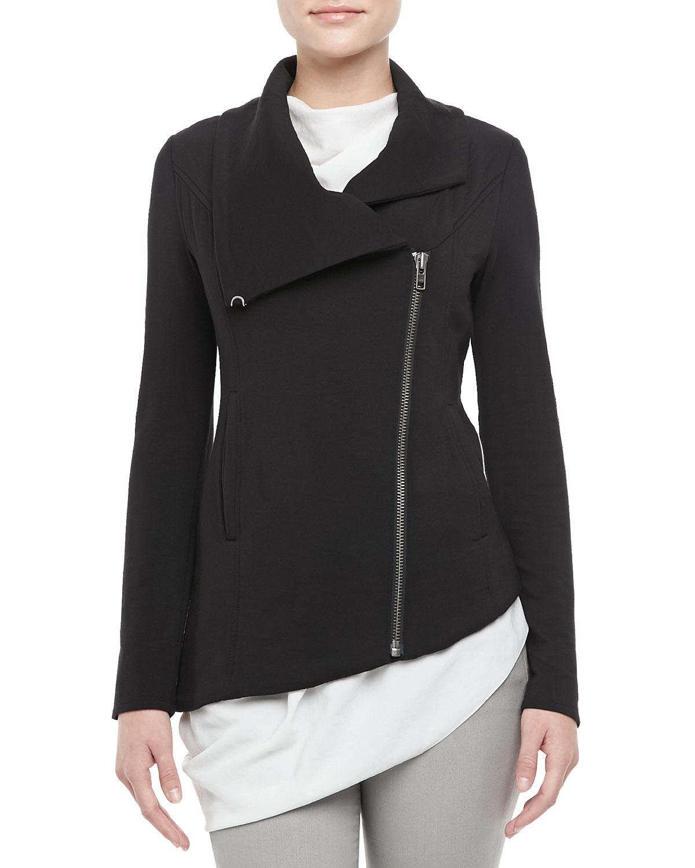 Helmut Asymmetric Knit Zip Jacket in Gray (BLACK) Lyst