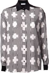 Jeremy Laing Striped Cross Pattern Shirt - Lyst