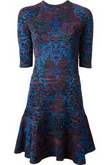 M Missoni Fantasia Print Flared Dress - Lyst