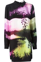 Mary Katrantzou Printed Shirt Dress - Lyst