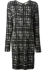 Michael by Michael Kors Printed Long Sleeve Dress - Lyst