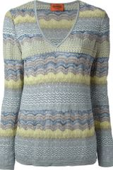 Missoni Striped Knit Sweater - Lyst
