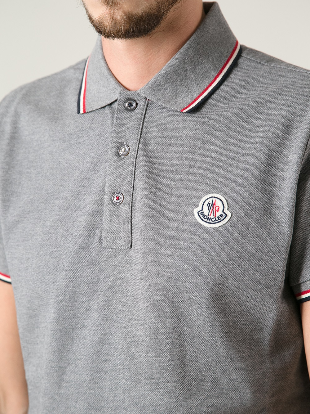 Discount 2018 short sleeve polo shirt - Grey Moncler Outlet Inexpensive Wiki Sale Online Manchester Great Sale Authentic Z84AfiR