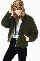 Nasty Gal Cheap Monday Teddy Bomber Jacket - Lyst