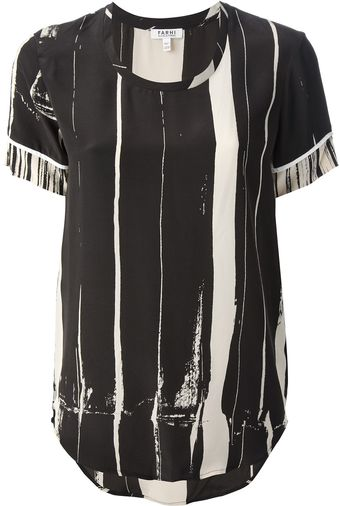 Nicole Farhi Striped T-shirt - Lyst